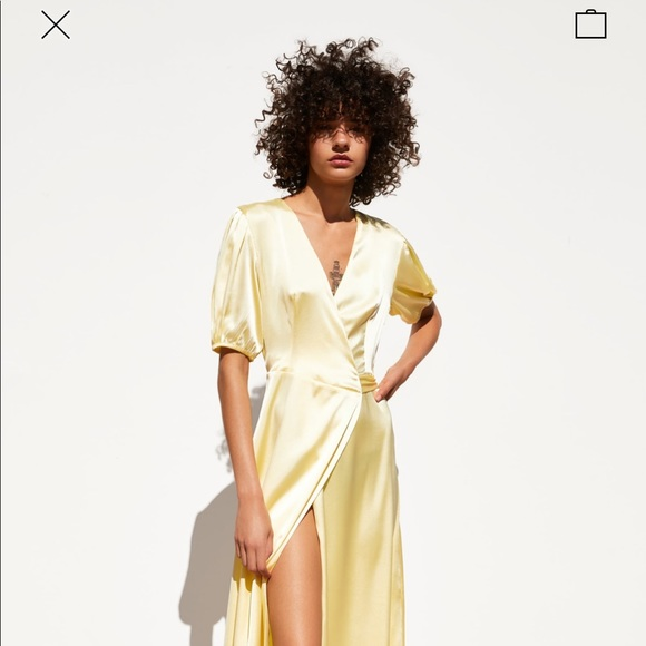Zara Dresses & Skirts - Hello Satin Dress